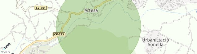 Mapa Artesa