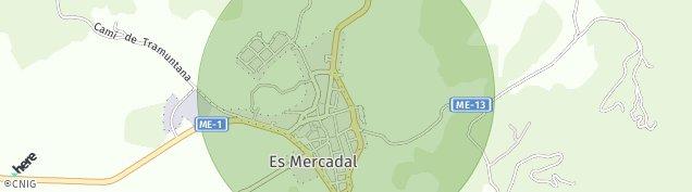 Mapa Es Mercadal