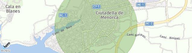 Mapa Ciutadella de Menorca