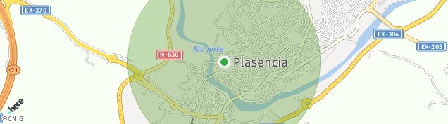 Mapa Plasencia