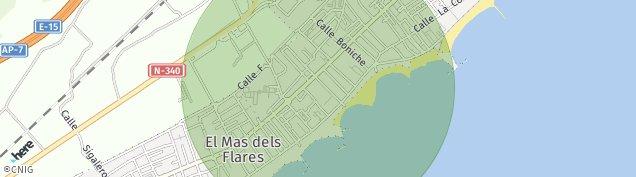 Mapa Benicasim