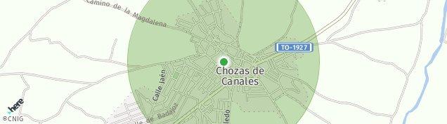 Mapa Chozas de Canales