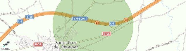 Mapa Santa Cruz del Retamar