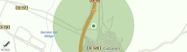 Mapa Cabanes