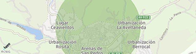 Mapa Arenas de San Pedro