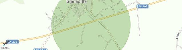 Mapa Zarza de Granadilla