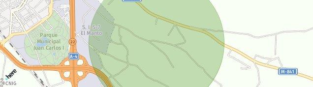 Mapa Poligono Industrial Carretera de San Martin de La Vega