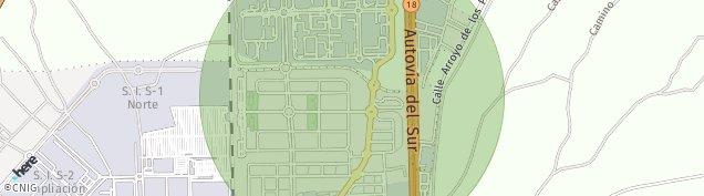 Mapa Carretera de San Martin de La Vega
