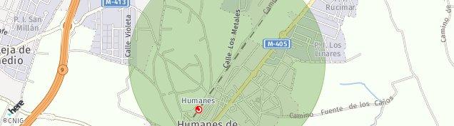 Mapa Humanes de Madrid
