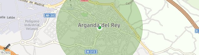 Mapa Arganda del Rey