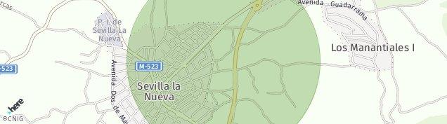 Mapa Sevilla la Nueva