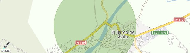 Mapa El Barco de Ávila