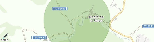 Mapa Alcalá de la Selva