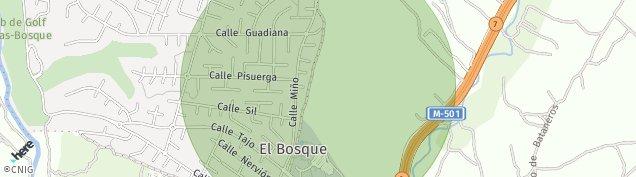 Mapa Urbanizacion El Bosque
