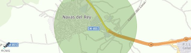 Mapa Navas del Rey