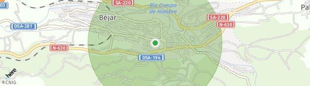 Mapa Béjar