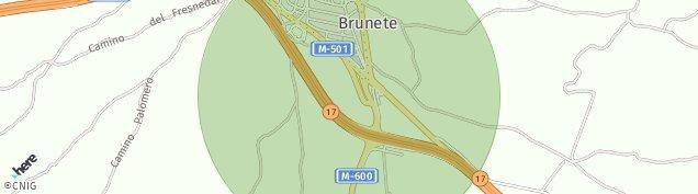 Mapa Brunete