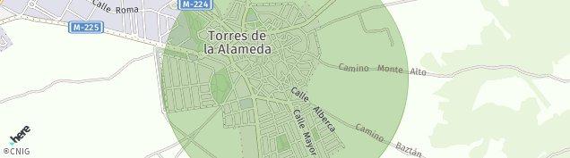 Mapa Torres de la Alameda