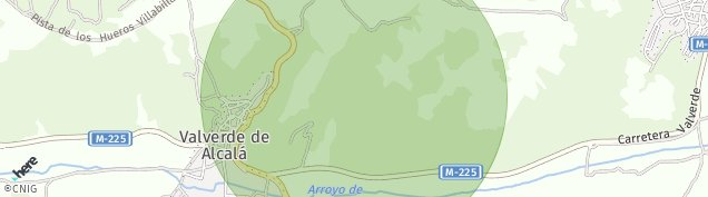 Mapa Valverde de Alcalá