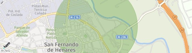 Mapa San Fernando de Henares