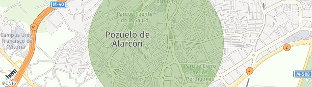 Mapa Pozuelo de Alarcón