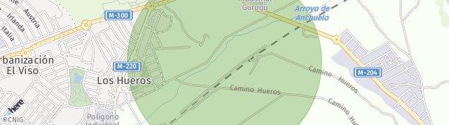 Mapa Los Hueros