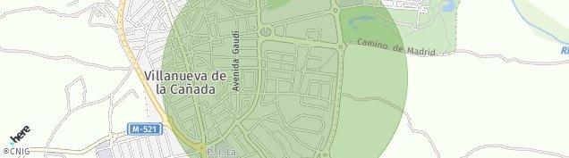 Mapa Villanueva de la Cañada