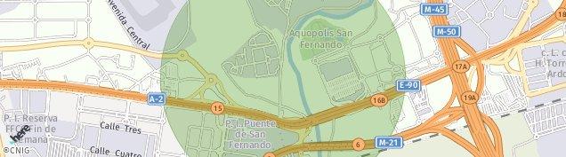 Mapa Parque Empresarial San Fernando de Henares