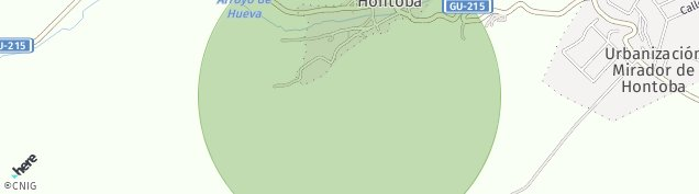Mapa Hontoba