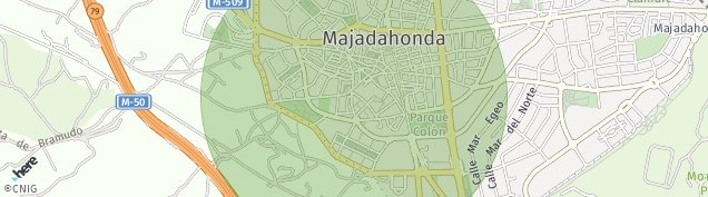 Mapa Majadahonda