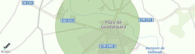 Mapa Pozo de Guadalajara