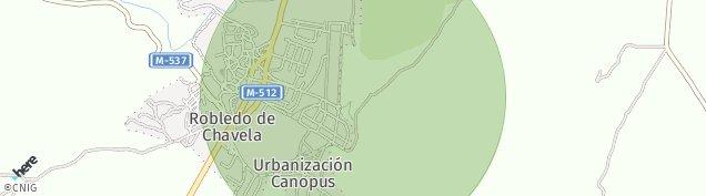 Mapa Robledo de Chavela