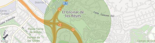 Mapa Encinar de Los Reyes
