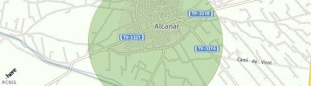 Mapa Alcanar