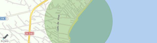 Mapa Les Cases d'Alcanar
