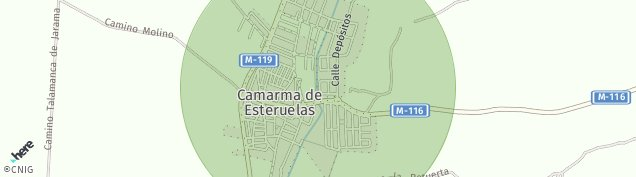 Mapa Camarma de Esteruelas