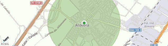 Mapa Alovera