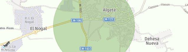 Mapa Algete