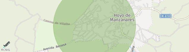 Mapa Hoyo de Manzanares