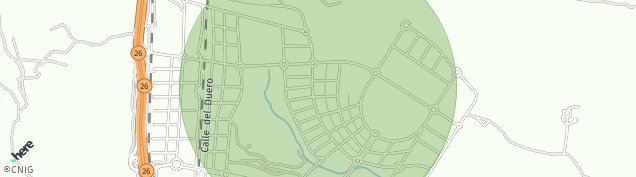 Mapa Carretera del Km. 17,500 Al 22,600 Madrid-Colmenar Viejo