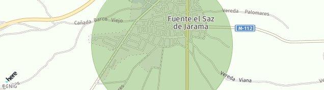Mapa Fuente el Saz de Jarama