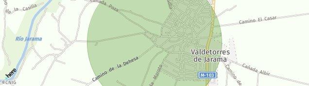 Mapa Valdetorres de Jarama