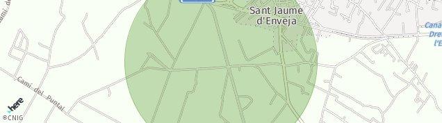 Mapa Sant Jaume d'Enveja