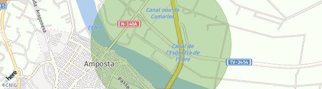 Mapa Amposta