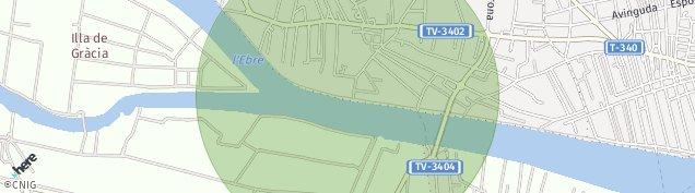 Mapa Deltebre