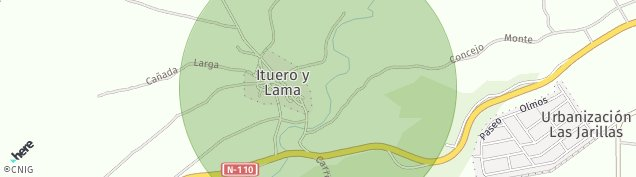 Mapa Ituero y Lama