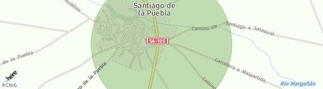 Mapa Santiago de la Puebla