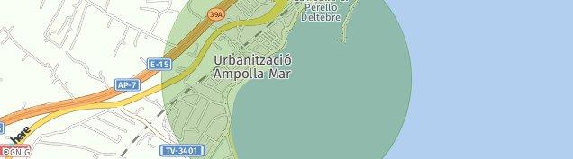 Mapa L'Ampolla