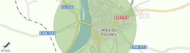 Mapa Alba de Tormes