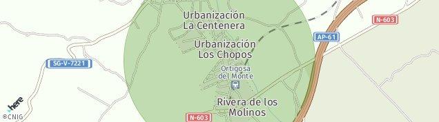 Mapa Ortigosa del Monte